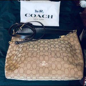 COACH signature satchel shoulder bag
